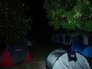 notte in tenda